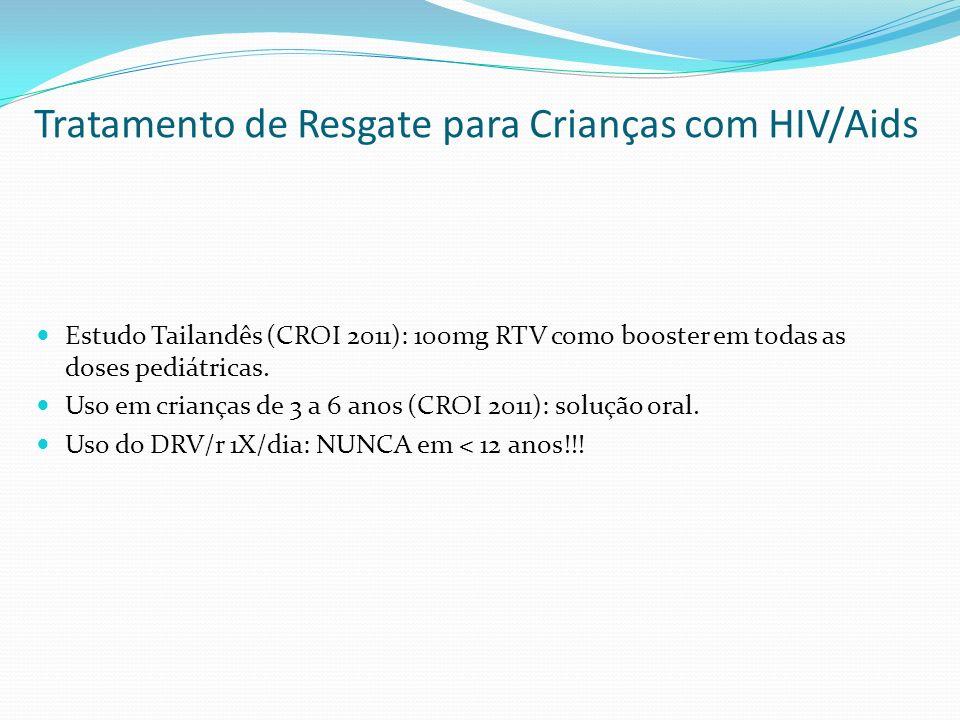 Tratamento de Resgate para Crianças com HIV/Aids