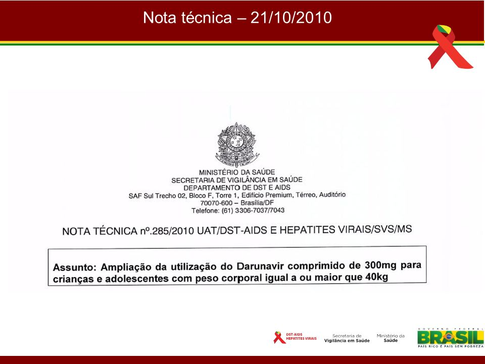 Nota técnica – 21/10/2010