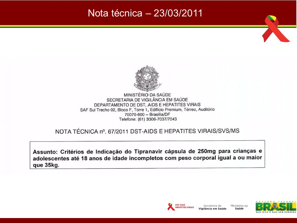 Nota técnica – 23/03/2011