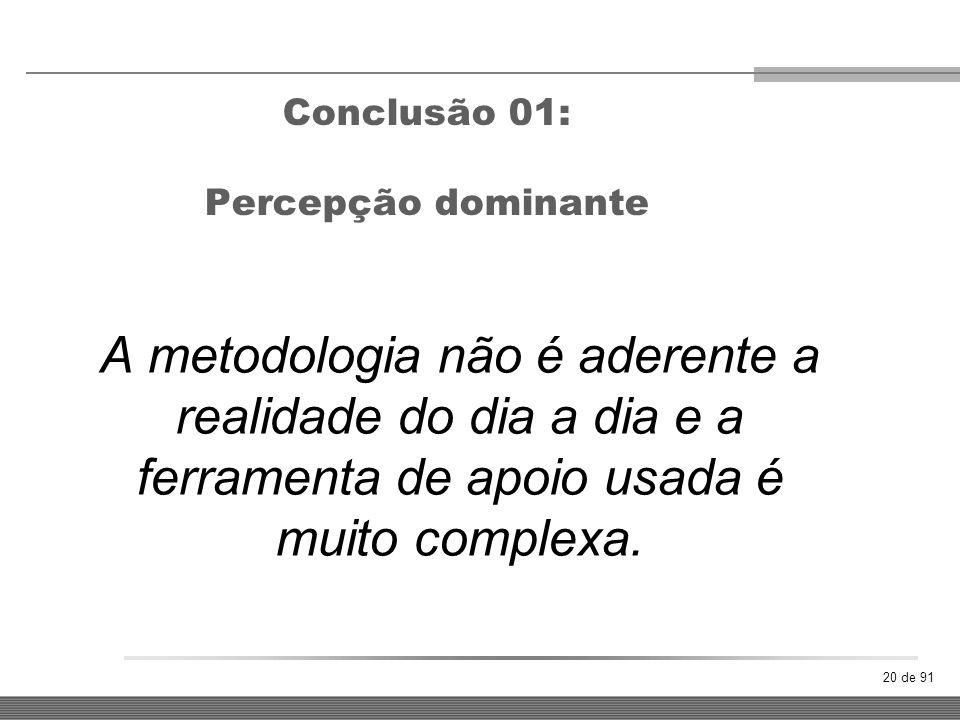 Conclusão 01: Percepção dominante