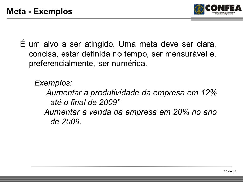 Meta - Exemplos