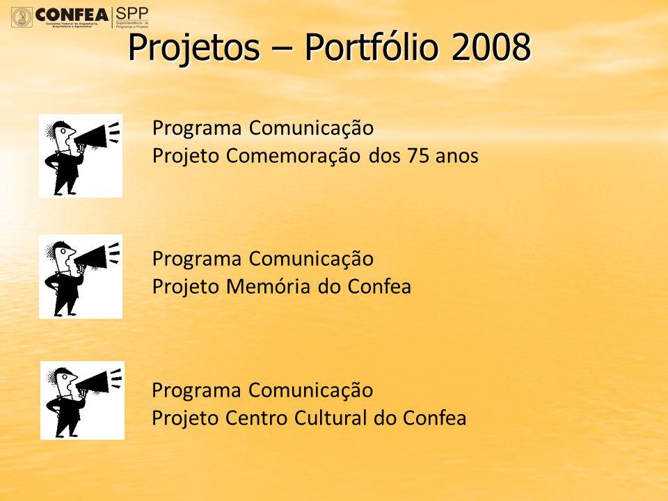 Projetos – Portfólio 2008 Programa Comunicação