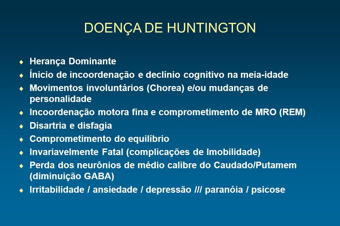 DOENÇA DE HUNTINGTON Herança Dominante