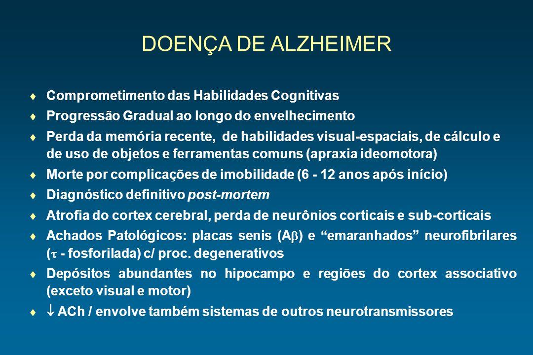DOENÇA DE ALZHEIMER Comprometimento das Habilidades Cognitivas