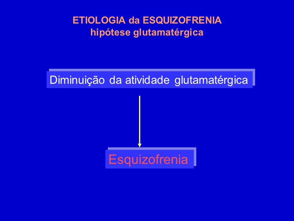 ETIOLOGIA da ESQUIZOFRENIA hipótese glutamatérgica