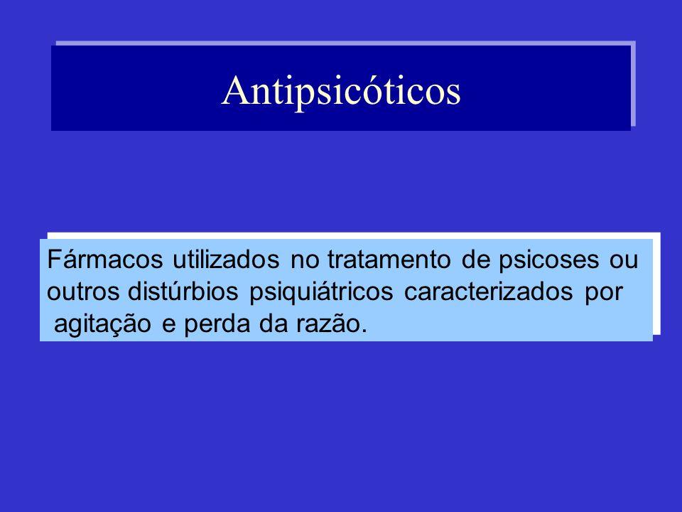 Antipsicóticos Fármacos utilizados no tratamento de psicoses ou