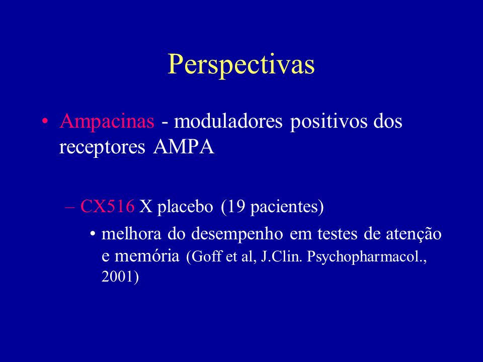 Perspectivas Ampacinas - moduladores positivos dos receptores AMPA