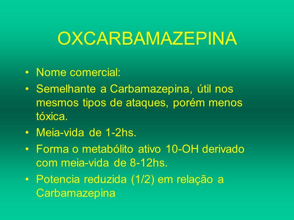OXCARBAMAZEPINA Nome comercial: