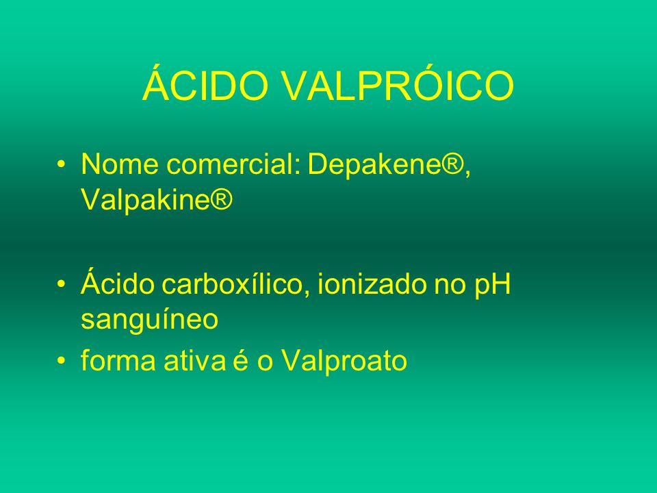 ÁCIDO VALPRÓICO Nome comercial: Depakene®, Valpakine®