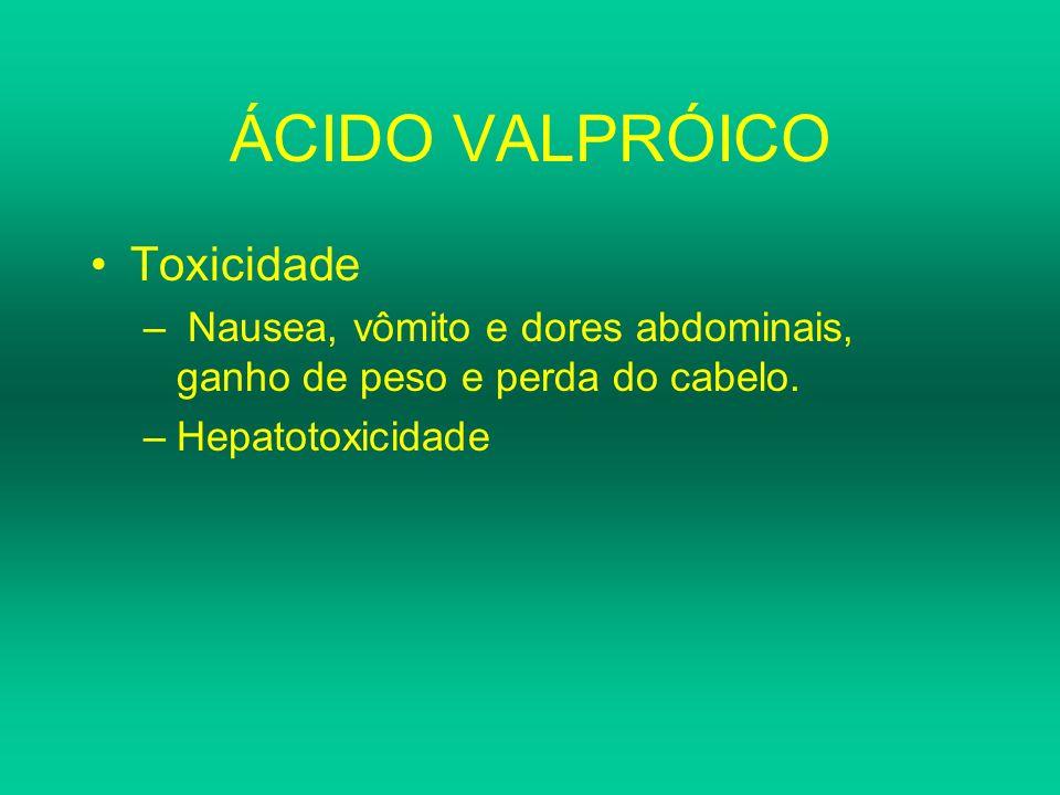 ÁCIDO VALPRÓICO Toxicidade