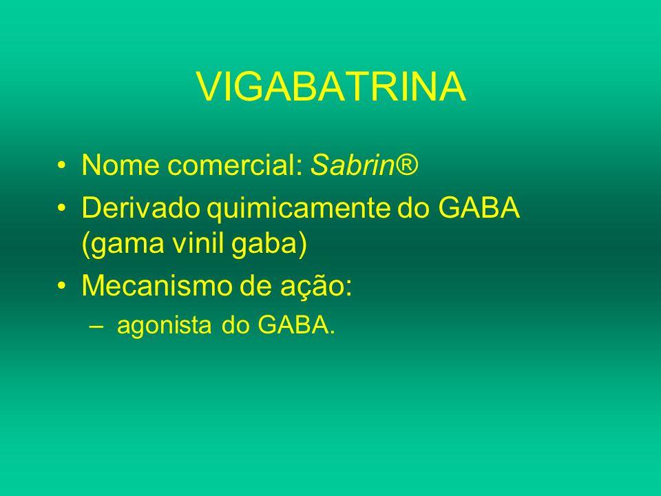 VIGABATRINA Nome comercial: Sabrin®