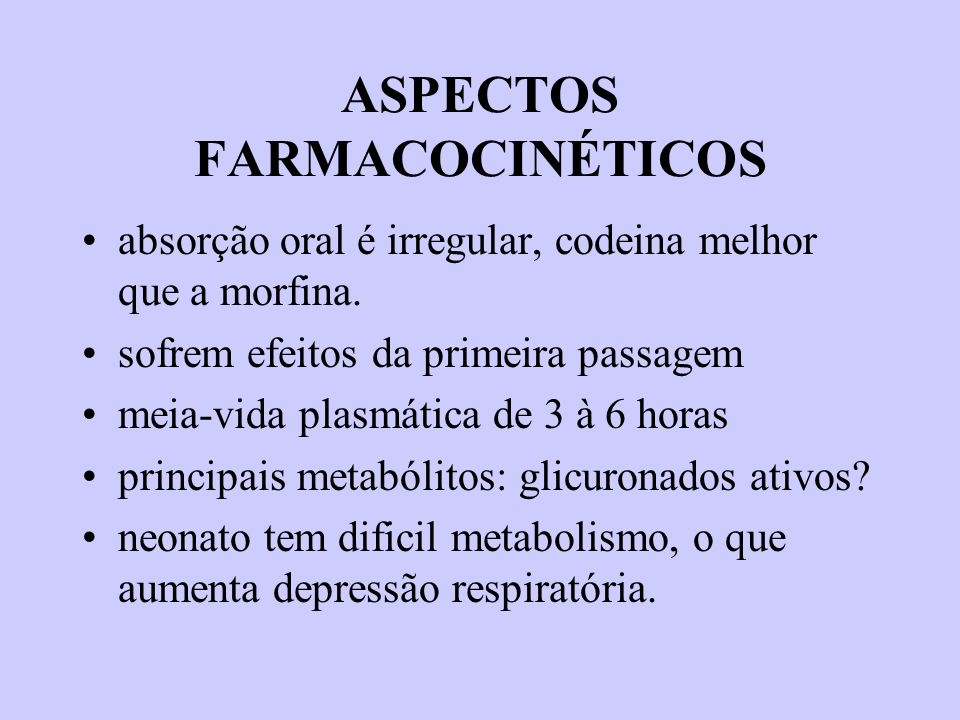 ASPECTOS FARMACOCINÉTICOS