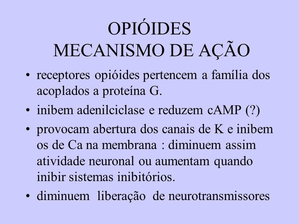 OPIÓIDES MECANISMO DE AÇÃO