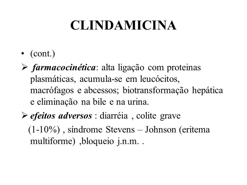 CLINDAMICINA (cont.)