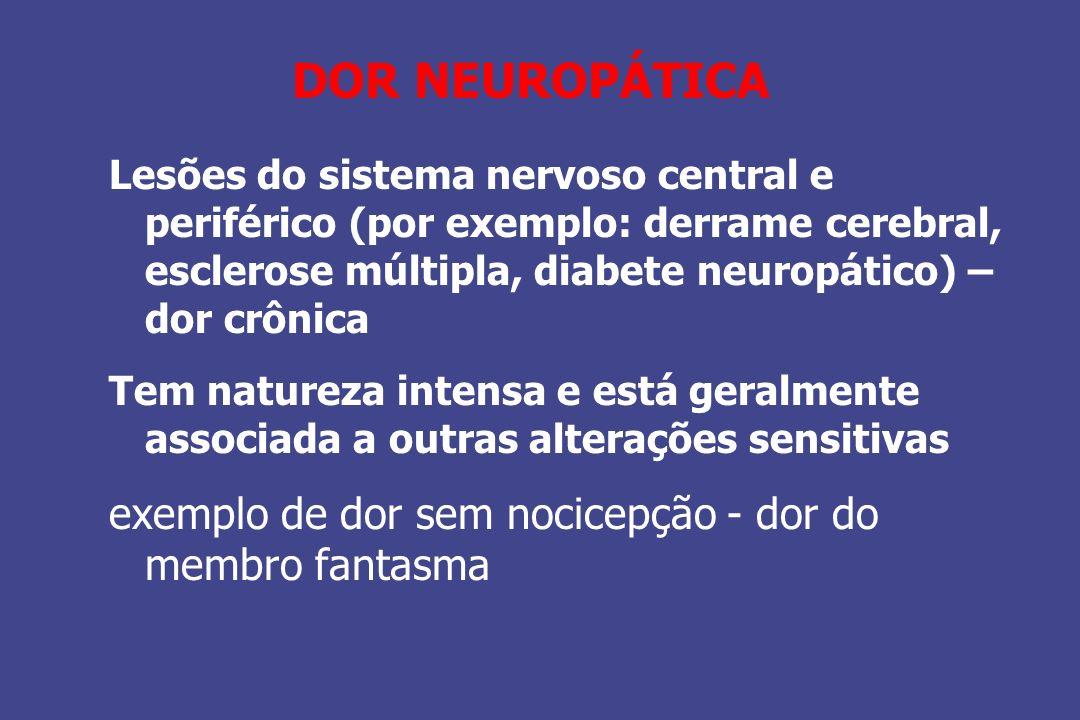 DOR NEUROPÁTICA exemplo de dor sem nocicepção - dor do membro fantasma