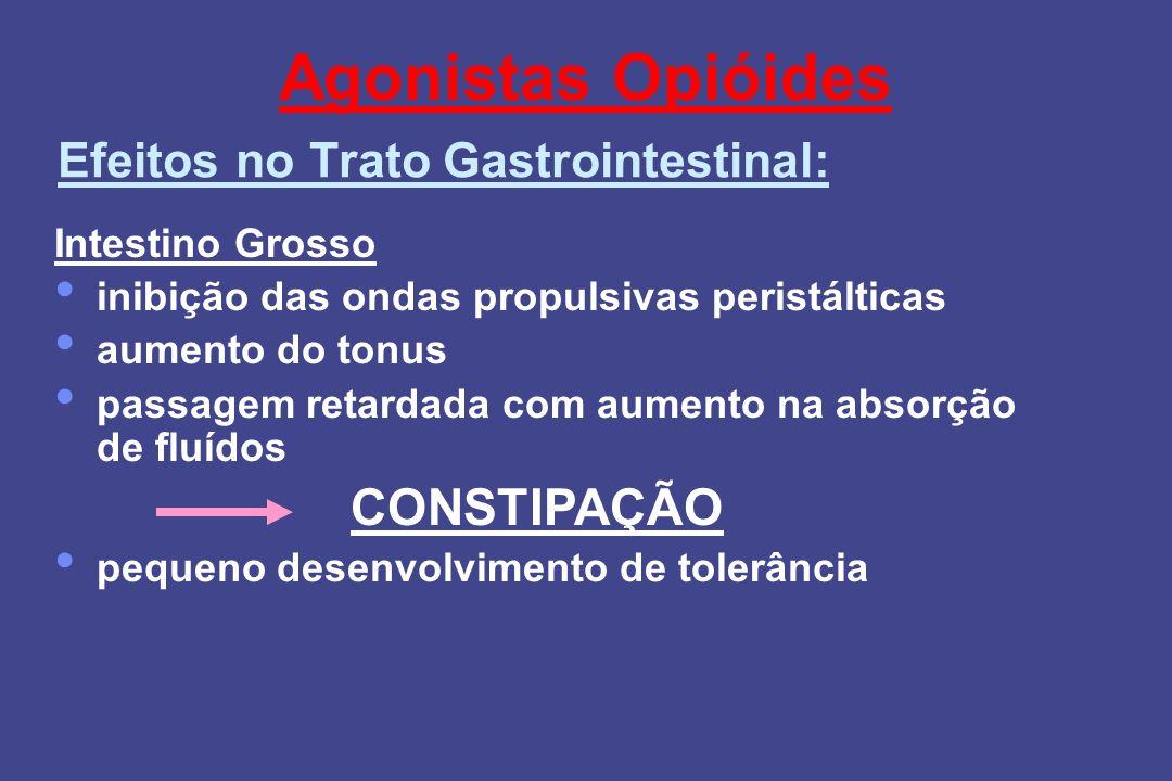 Agonistas Opióides CONSTIPAÇÃO Efeitos no Trato Gastrointestinal:
