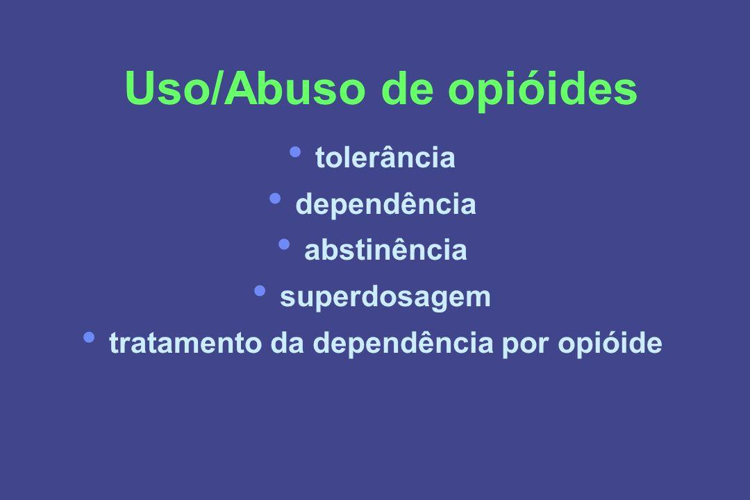 tratamento da dependência por opióide