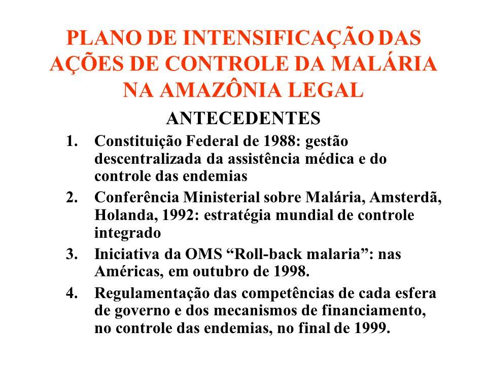 PLANO DE INTENSIFICAÇÃO DAS AÇÕES DE CONTROLE DA MALÁRIA NA AMAZÔNIA LEGAL