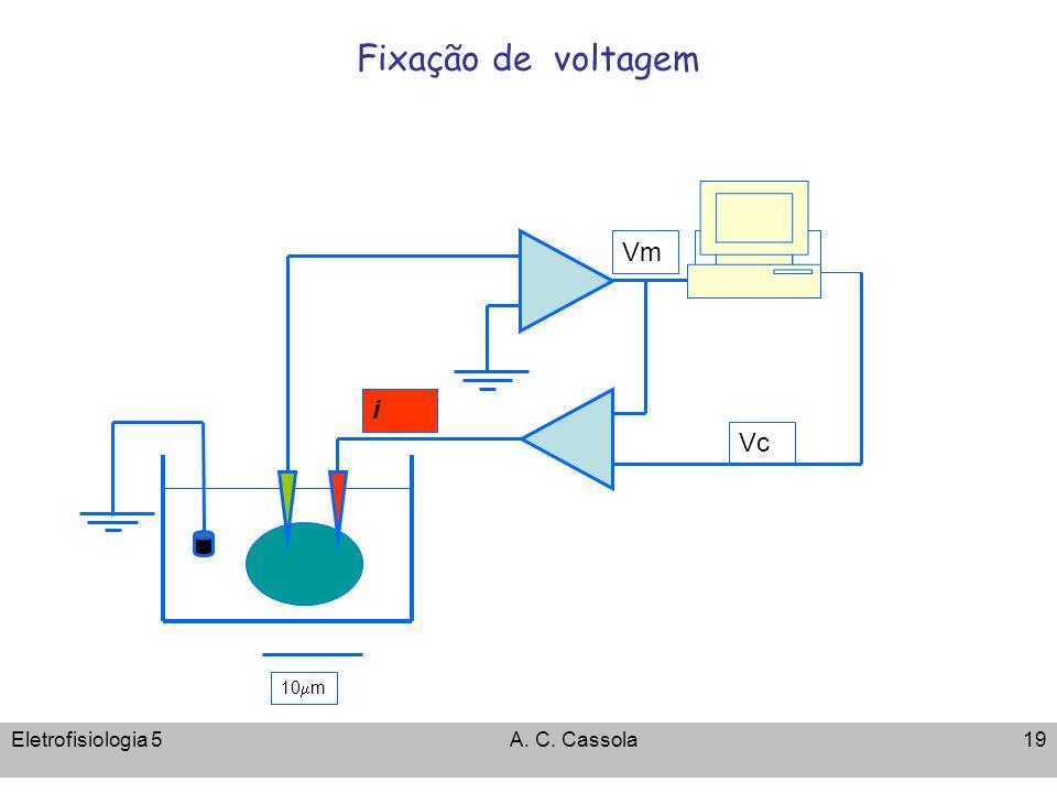 Fixação de voltagem Vm i Vc 10mm Eletrofisiologia 5 A. C. Cassola