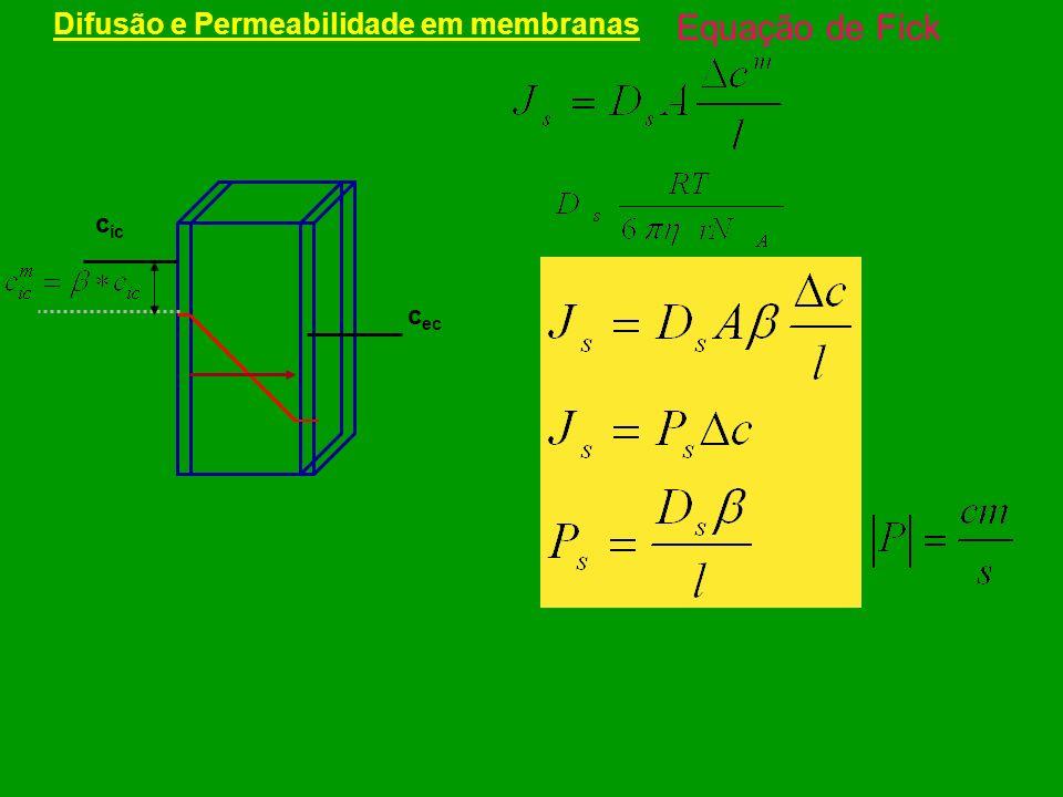 Difusão e Permeabilidade em membranas