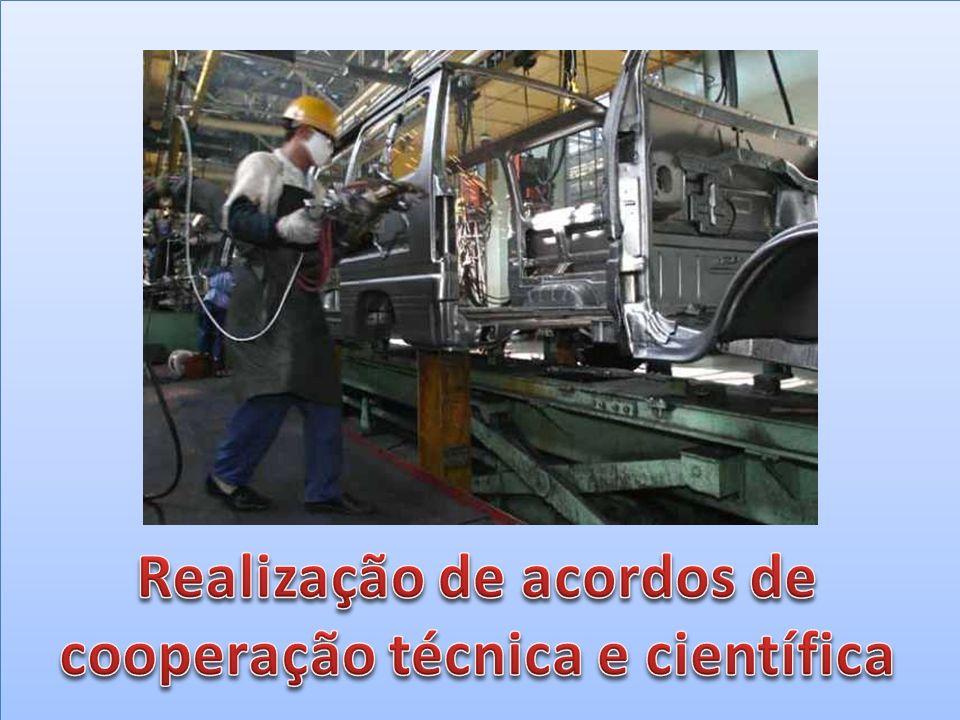Realização de acordos de cooperação técnica e científica