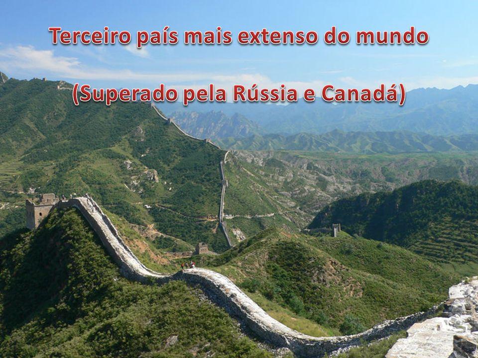 Terceiro país mais extenso do mundo (Superado pela Rússia e Canadá)
