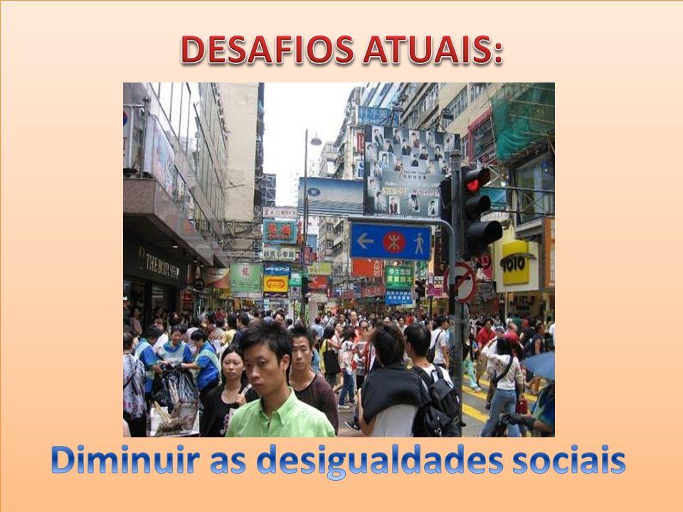 Diminuir as desigualdades sociais