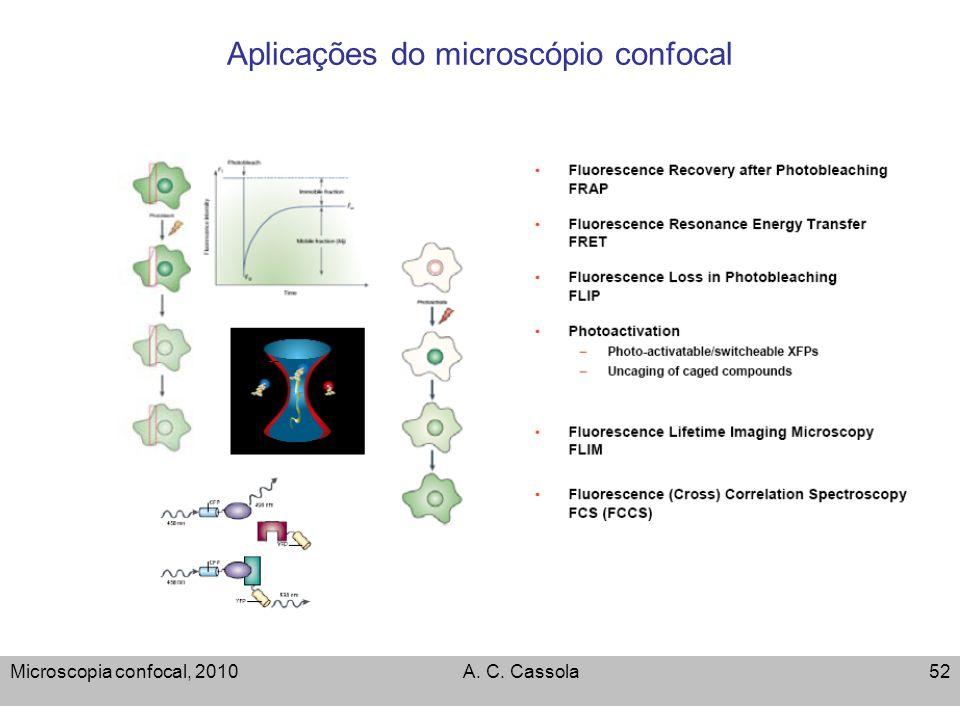 Aplicações do microscópio confocal