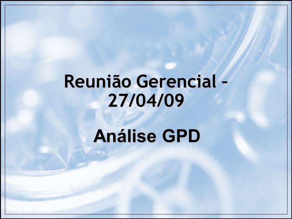Reunião Gerencial – 27/04/09 Análise GPD