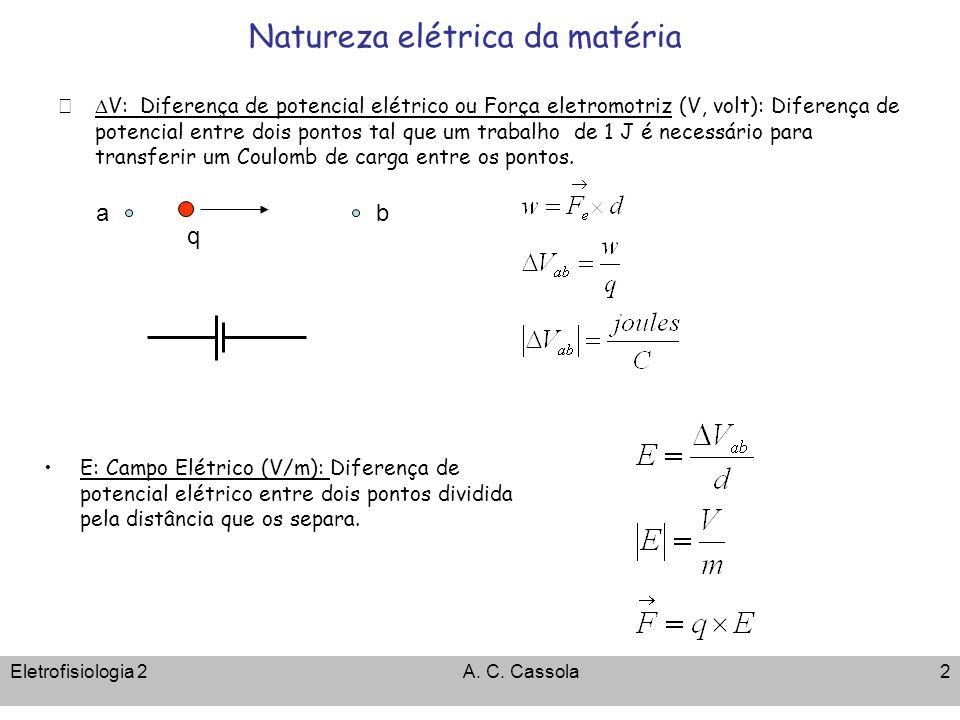 Natureza elétrica da matéria