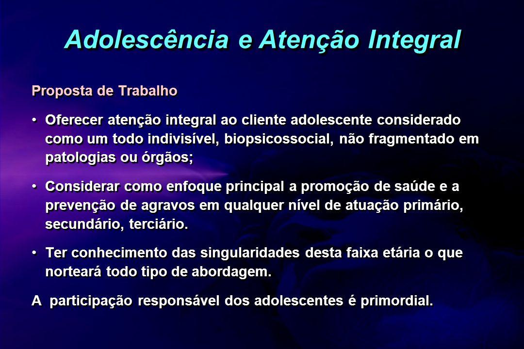 Adolescência e Atenção Integral