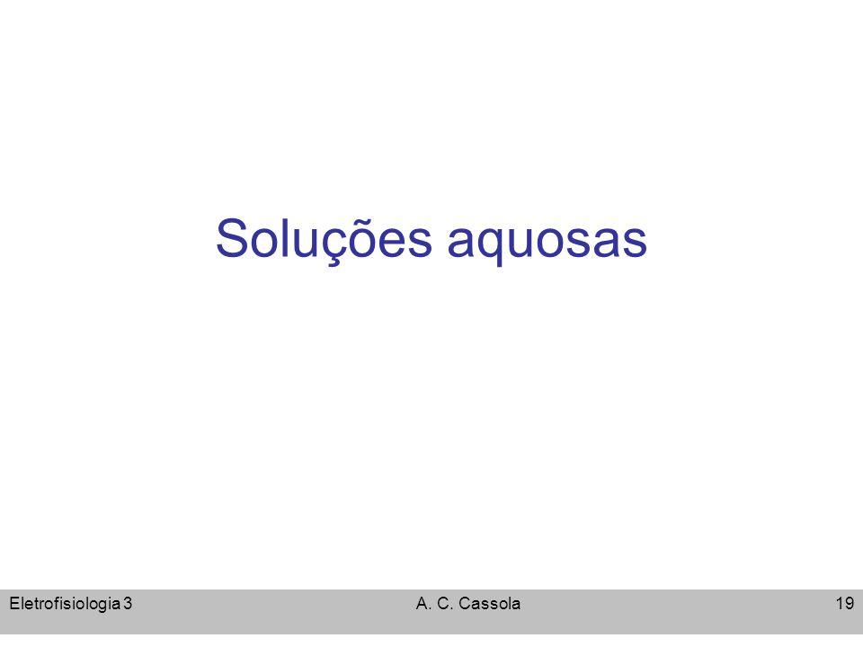 Soluções aquosas Eletrofisiologia 3 A. C. Cassola