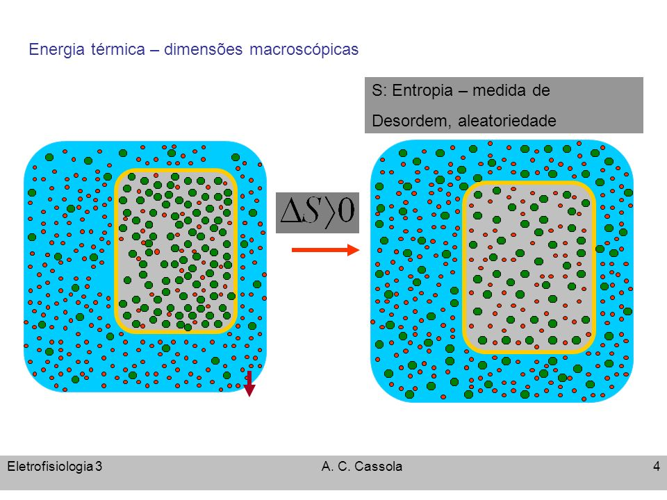q Energia térmica – dimensões macroscópicas Energia Livre de Gibbs