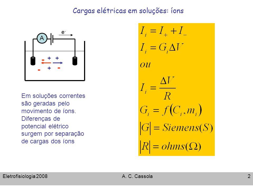 Cargas elétricas em soluções: íons