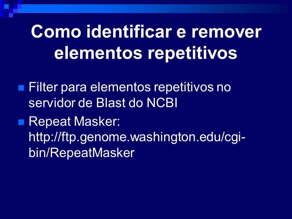 Como identificar e remover elementos repetitivos