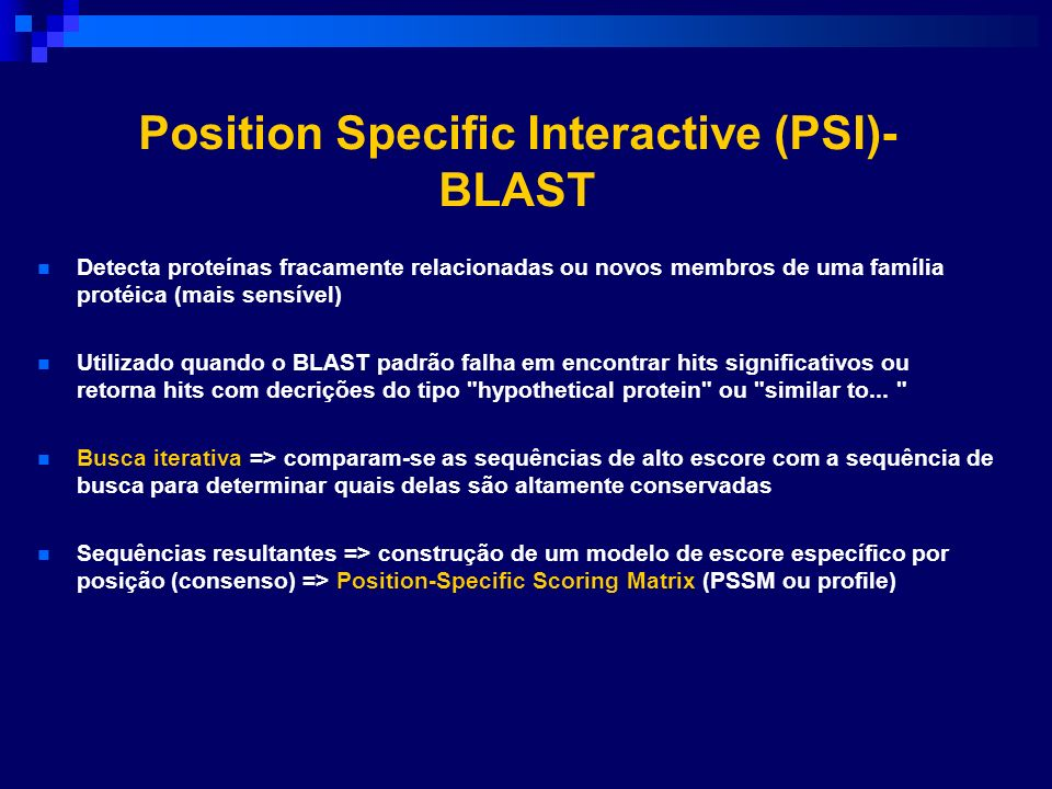 Position Specific Interactive (PSI)-BLAST