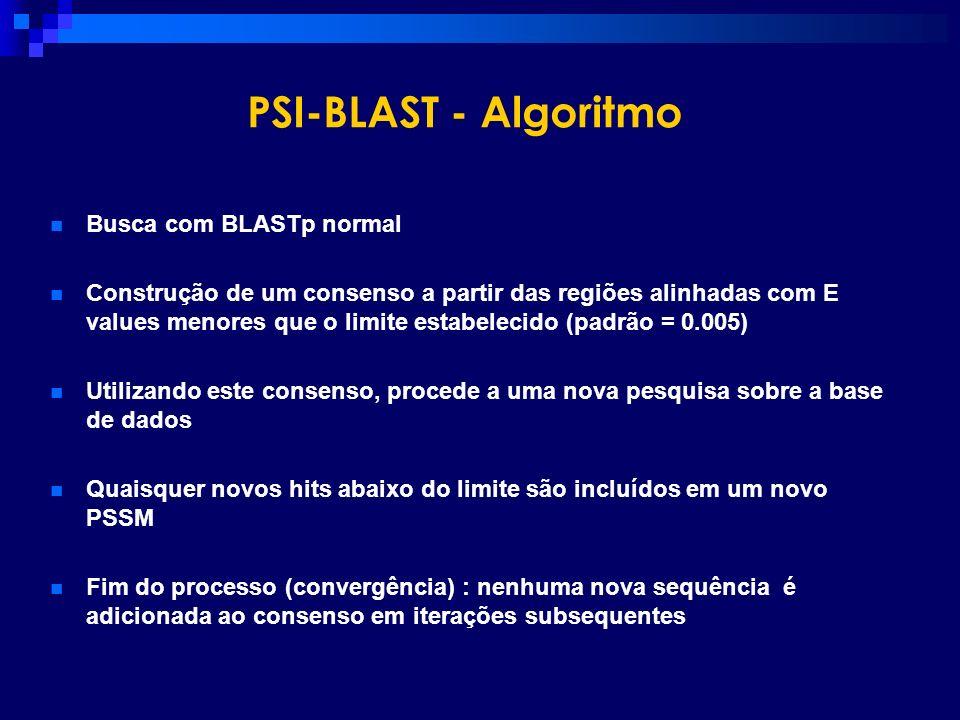 PSI-BLAST - Algoritmo Busca com BLASTp normal