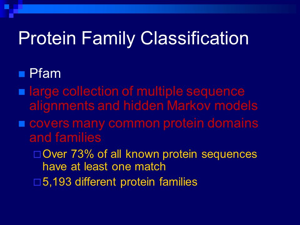Protein Family Classification