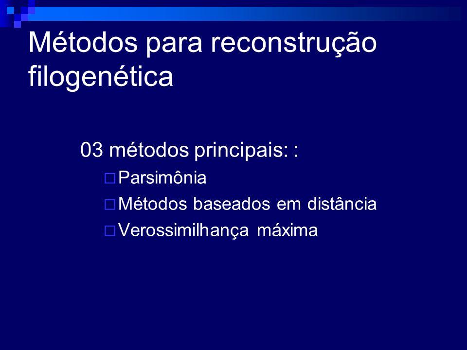 Métodos para reconstrução filogenética