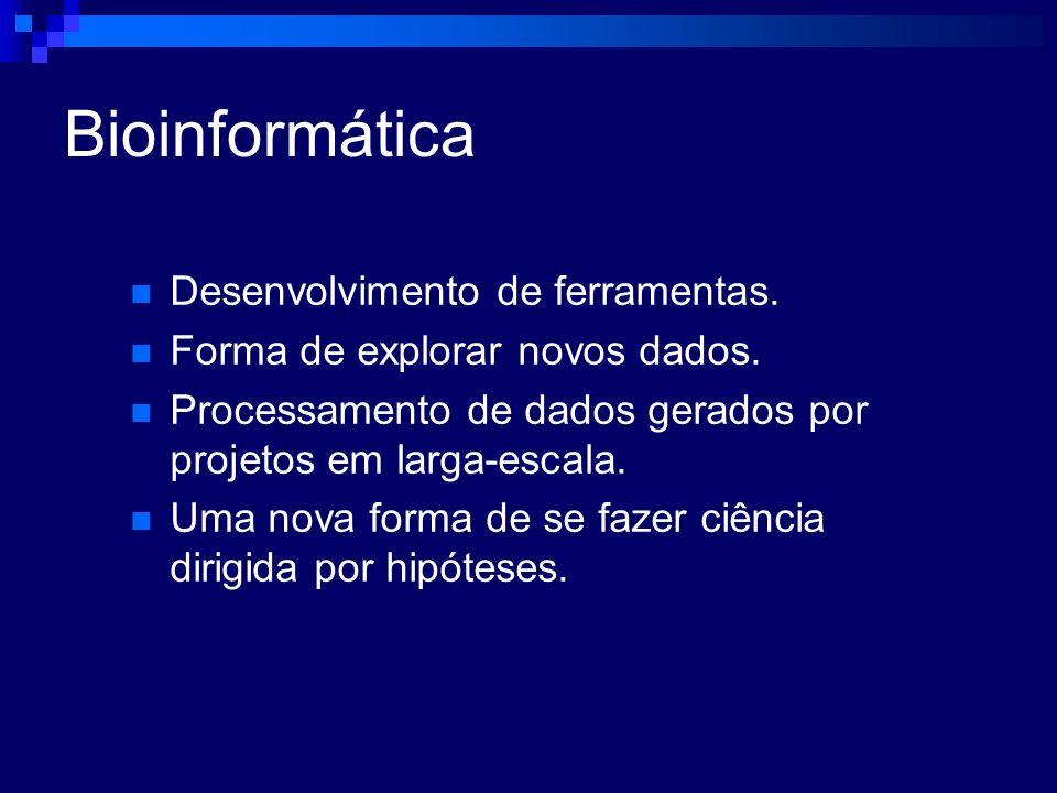 Bioinformática Desenvolvimento de ferramentas.