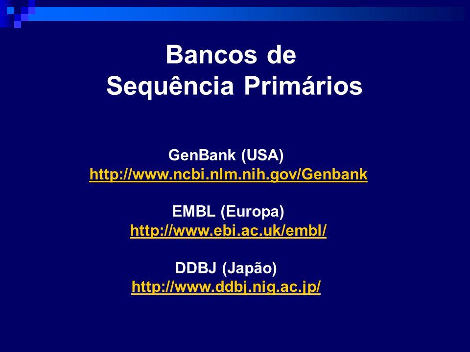 Bancos de Sequência Primários