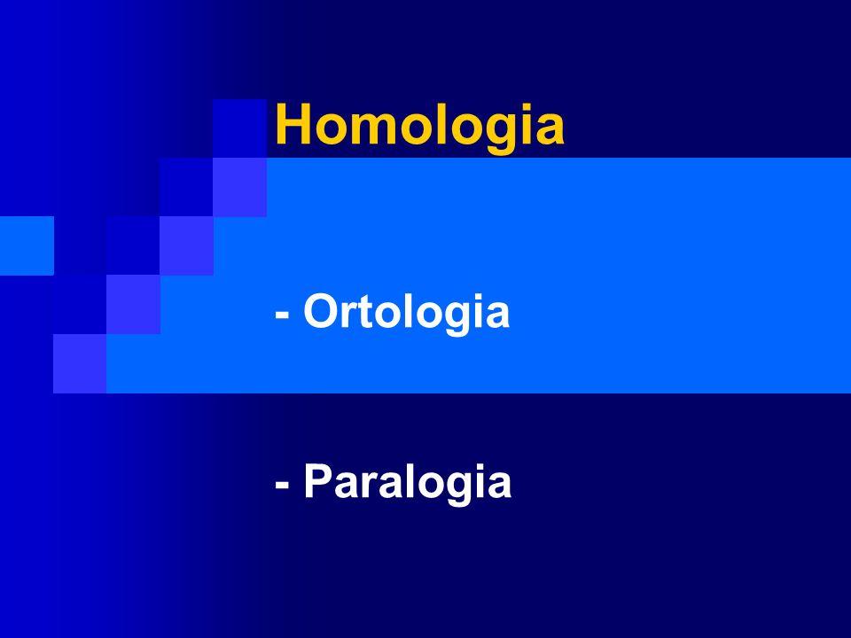 Homologia - Ortologia - Paralogia