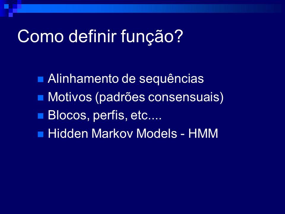 Como definir função Alinhamento de sequências