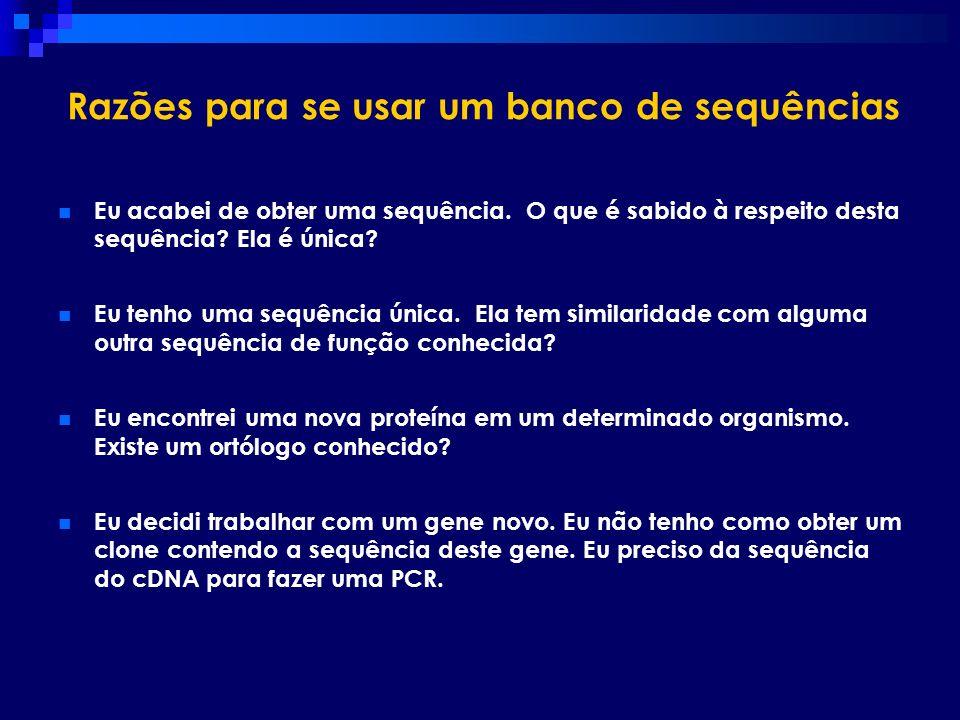 Razões para se usar um banco de sequências