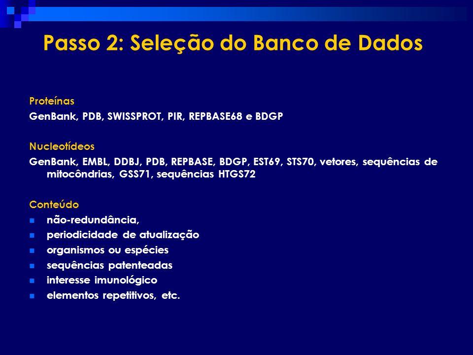 Passo 2: Seleção do Banco de Dados