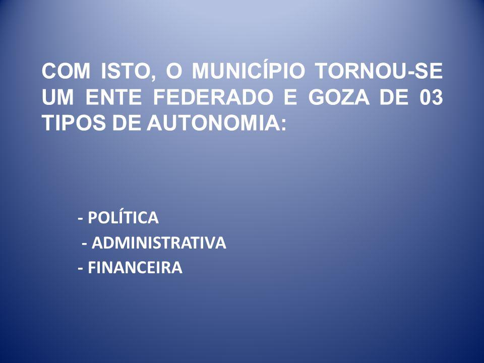 - POLÍTICA - ADMINISTRATIVA - FINANCEIRA