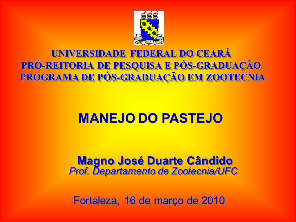 MANEJO DO PASTEJO Magno José Duarte Cândido