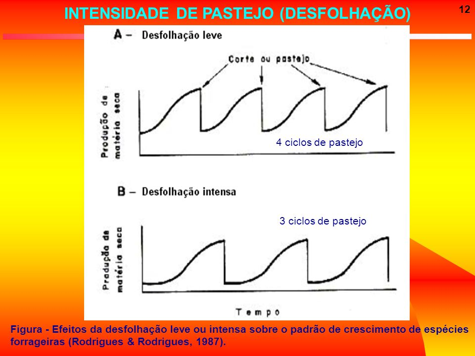 INTENSIDADE DE PASTEJO (DESFOLHAÇÃO)
