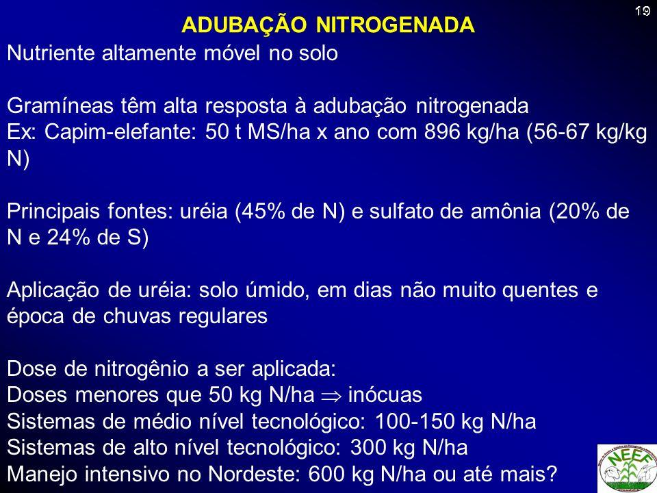 ADUBAÇÃO NITROGENADA 19.