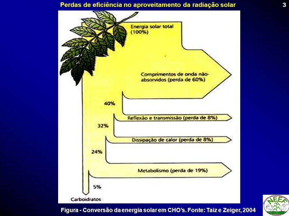 Perdas de eficiência no aproveitamento da radiação solar